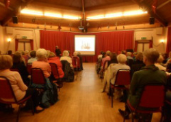 One of our regular monthly meetings at The Assembly Rooms